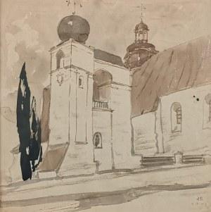 Stanisław NOAKOWSKI (1867-1928), Widok na kościół, 1917