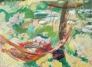 Wojciech WEISS (1875-1950), Hamak w kalwaryjskim ogrodzie, ok. 1920
