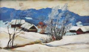 Jan BUKOWSKI (1873-1943), Pejzaż z Tatrami w tle