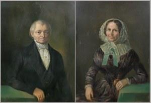 Malarz nieokreślony, XIX w., Para portretów z epoki biedermeier