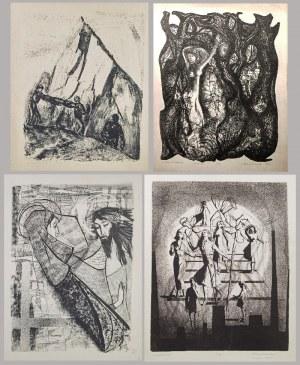 Maria BRONIKOWSKA (1922-1998), Zestaw 4 grafik