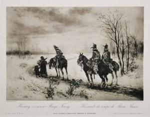Jan CHEŁMIŃSKI (1851-1925), Husarzy z czasów Maryi Teresy, 1884