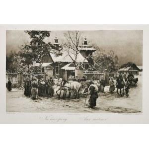 Alfred WIERUSZ-KOWALSKI (1849-1915), Na nieszpory, 1884