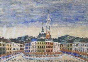 Krynicki Nikifor (1895-1968), Pejzaż miejski