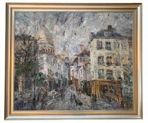 Włodzimierz Zakrzewski (1916-1992), Montmarte, Rue Norwins (1985)