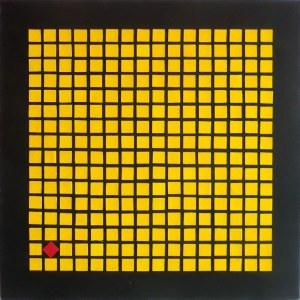 Marcin Lubera (ur. 1983 r.), Kompozycja z czerwonym kwadratem, 2020-2021 r.