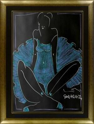 Joanna Sarapata, Portret niebieskiej balleriny, 2021