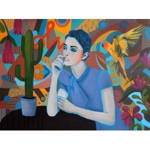Marcin Painta, Ona i papuga, 2018