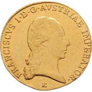 František II., 1792 - 1835, Dukát 1824 E, Karlovský Bělehrad, 3.498g, hr.,