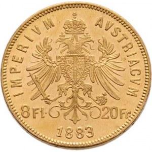 František Josef I., 1848 - 1916, 8 Zlatník 1883 (pouze 31.000 ks), 6.448g, nep.hr.,