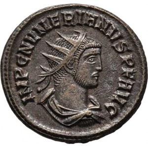 Numerianus, 283 - 284, AE Antoninianus, Rv:CLEMENTIA.TEMP., Jupiter