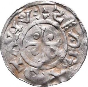 Boleslav II., knížetem v Čechách 972 - 999, Denár, podobný jako Ca.99, F.200 (není vyobrazen),