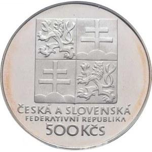 Československo 1990 - 1993, 500 Koruna 1993 - 100 let Československého tenisu,