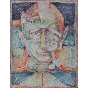 Władysław Popielarczyk, Autoportret z Agatką, 1985 r.