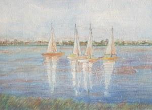 Wilhelm Wilk Ossecki, Łodzie na jeziorze
