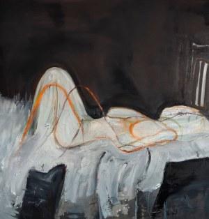 Piotr Szwabe (ur. 1975), Szkic do rozmowy z kobietą leżąca wielo poziomowo, 2020