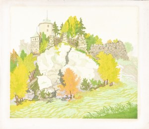 Bielecki Władysław (1896-1942), Ojców - ruiny zamku, lata 30. XX w.