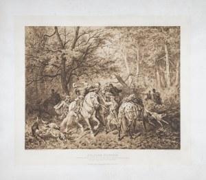 Kossak Juliusz (1824-1899), Piotr Włost Dunin ze Skrzynna bierze Wołodara, księcia Przemyskiego w niewolę, 1900
