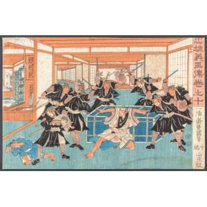 Utagawa Kunisada (1786-1865), Scena 10 z cyklu Chushingura, ok. 1847