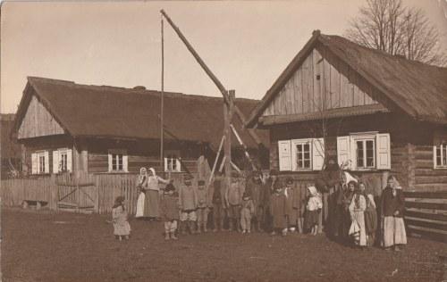 Jan Bułhak - Wieś Plebanice [właść. Plebańce] pod Mińskiem [Białoruś] - lata 30.. Vintage print...