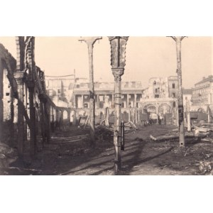 Sylwester Braun - Ruiny Gościnnego Dworu, 1940. Vintage print, autorski stempel na rewersie, 8...