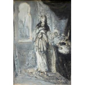 "Maurycy GOTTLIEB (1856-1879), Recha, 1877 Scena z ""Natana Mędrca"", dramatu Gottholda Ephraima Lessinga"