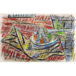 Jerzy LUBAŃSKI (1925-2005), Martwa natura z cebulami II