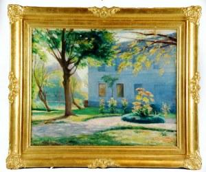 Roman KRAMSZTYK (1885-1942), Przed domem , ok. 1913