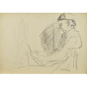 Kasper POCHWALSKI (1899-1971), Portret artysty przy pracy, 1953