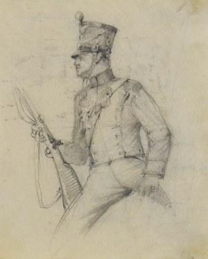 Stanisław KAMOCKI (1875-1944), Studium ułana Księstwa Warszawskiego, ok.. 1894