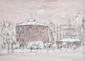 Henryk KRYCH (1905-1980), Pejzaż miejski zimą