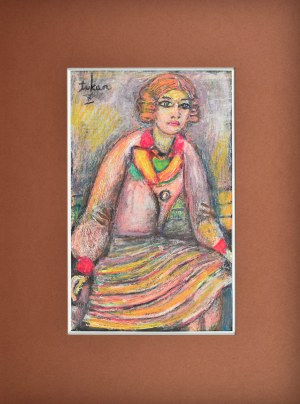 Eugeniusz TUKAN - WOLSKI (1928-2014), Portret siedzącej kobiety