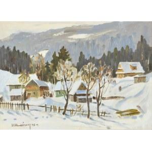 Michał KWAŚNY (1919-1997), Pejzaż podgórski zimą, 1976