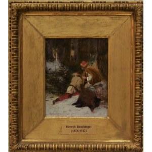 Henryk Rauchinger (1856-1942) , Polowanie na dzika