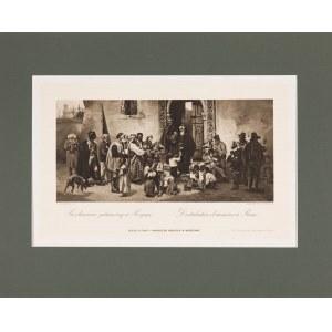 Ludwik Wiesiołowski (1854-1892), Rozdawanie jałmużny w Rzymie, 1884