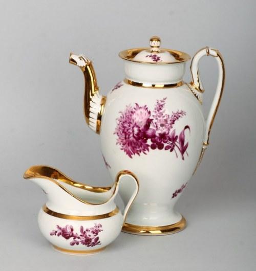 Komplet do kawy KPM Miśnia 1840 r.