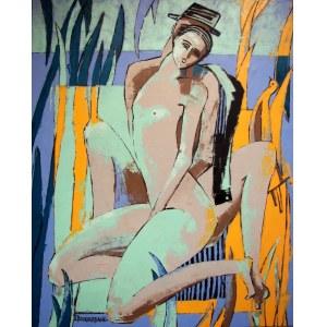 Elżbieta BOUKOURBANE, Z Panem Chagallem…, 2021 r.