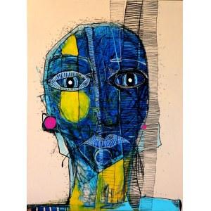 Ewelina LOCHMAN, Portret niebieski - zasupłane, 2020 r.