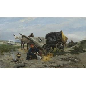 Wywiórski Michał Gorstkin, ODPOCZYNEK W DRODZE, 1887