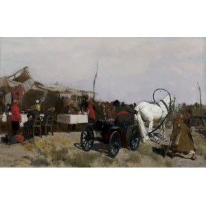 Chełmoński Józef, NA JARMARKU, 1882