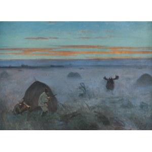 Fałat Julian, POLOWANIE NA ŁOSIA, 1914