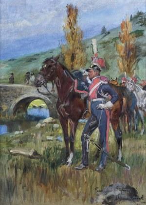 Kossak Wojciech, SZWOLEŻER GWARDII POLSKIEJ POD SOMOSIERRĄ, 1940