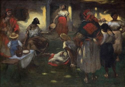 Tetmajer Włodzimierz, CHRYSTUS W DOMU MARII I MARTY, OK. 1905