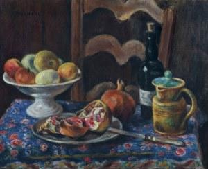 Pankiewicz Józef, MARTWA NATURA Z OWOCAMI, DZBANKIEM..., 1926