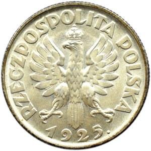 Polska, II RP, Kłosy, 1 złoty 1925, Londyn, UNC