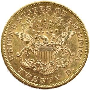 USA, 20 dolarów 1871 S, San Francisco