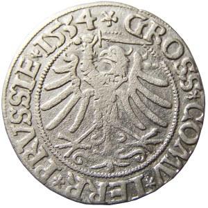 Zygmunt I Stary, grosz 1534, Toruń, popiersie w koronie