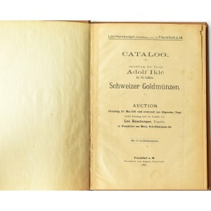 Leo Hamburger, Catalog p. Adolf Ikle z St. Gallen, Aukcion - 23 maja 1911, Frankfurt m/Main
