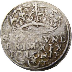 Zygmunt I Stary, grosz 1547, Kraków, leżąca 4 w dacie