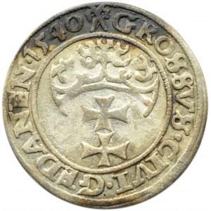 Zygmunt I Stary, grosz 1540, ....PRV, Gdańsk